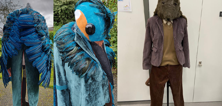 List size double nr0xx  kingfisher and water vole costume